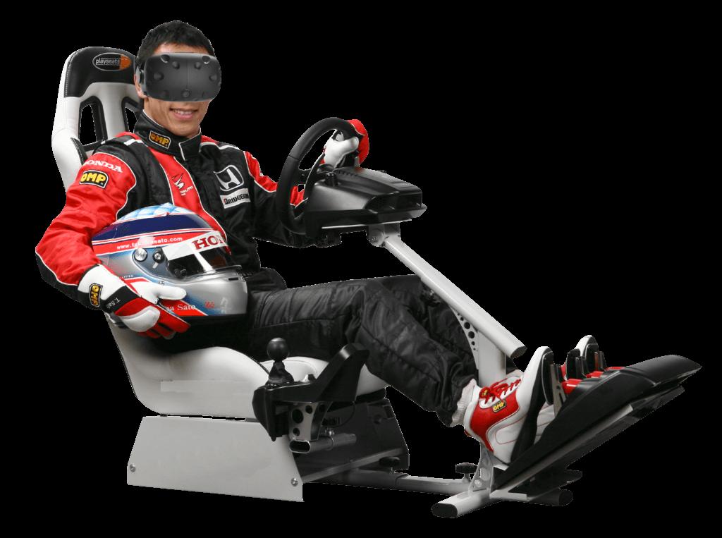 Inside VR drive guy
